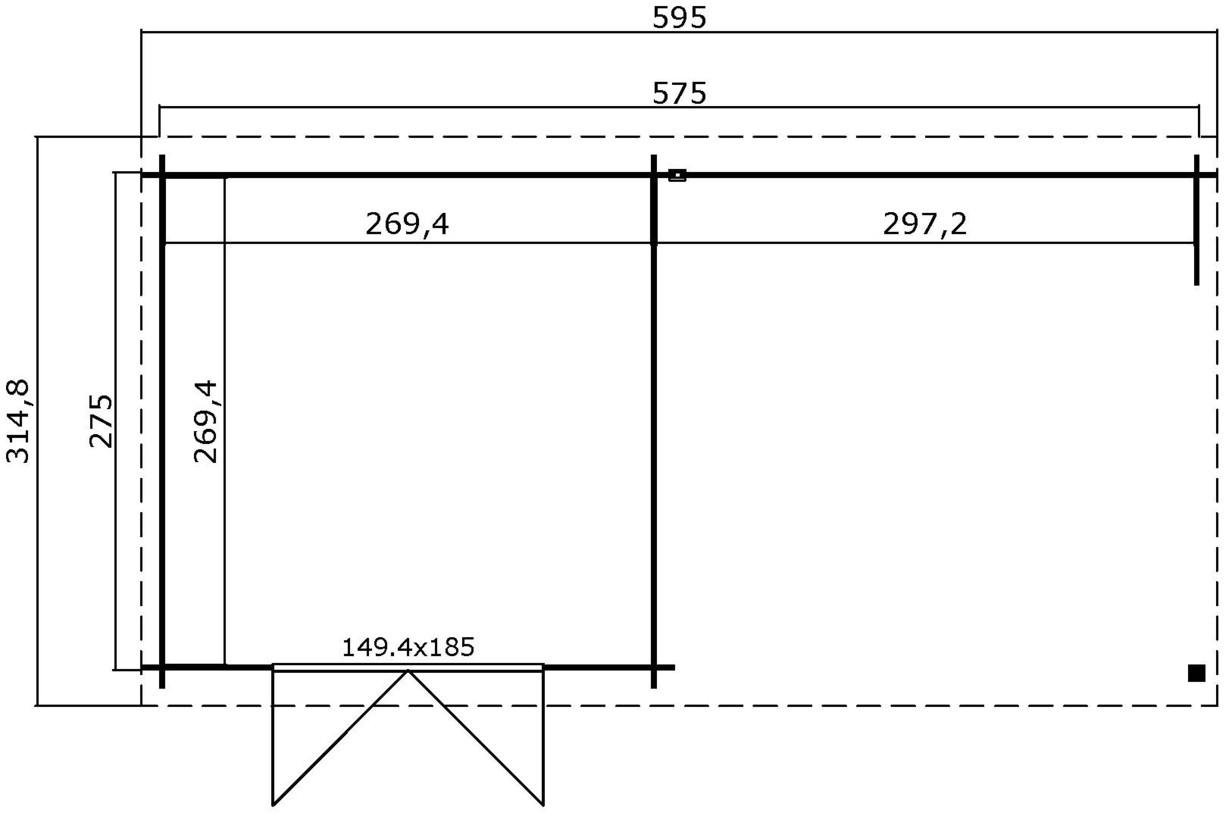 Westwood   Buitenverblijf Siri 600   Platinum Grey   595x295 cm