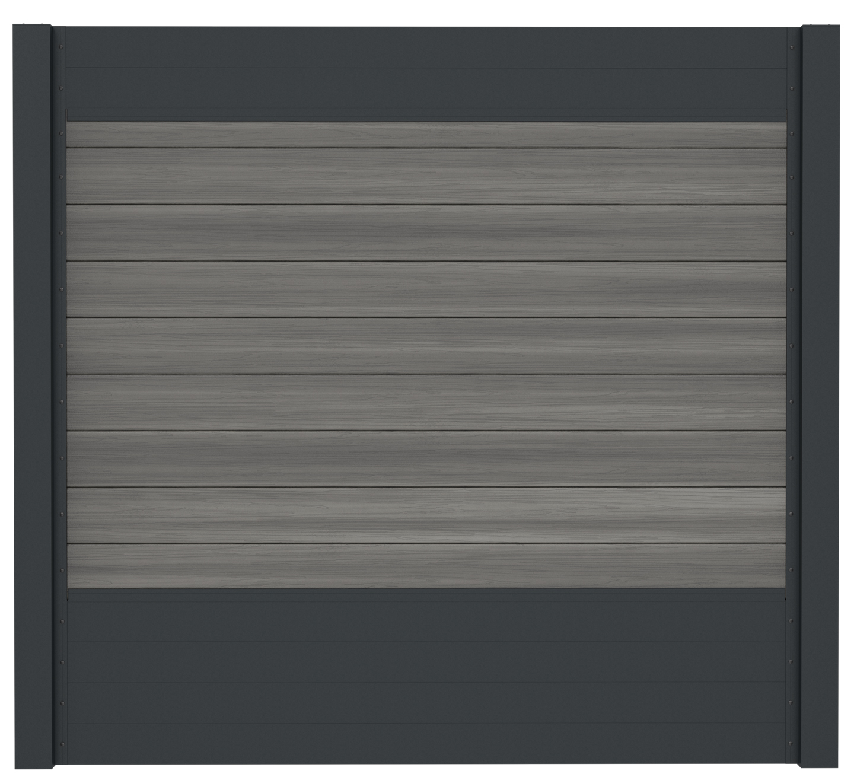 IdeAL | Scherm Antraciet- Horizon Castle Grey | 180x200 | 9 planks