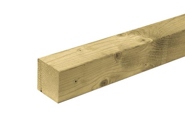 Paal Vuren   12 x 12 cm   Geïmpregneerd   400 cm