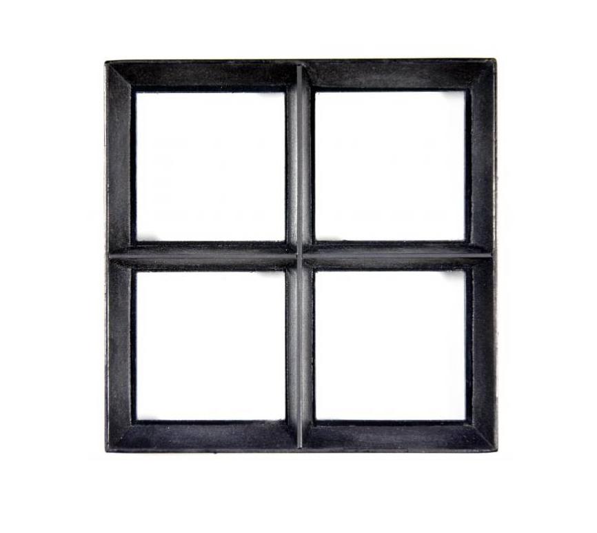 Stalen raam | Vast | 100 x 120 cm | Dubbel glas | Zwart gecoat