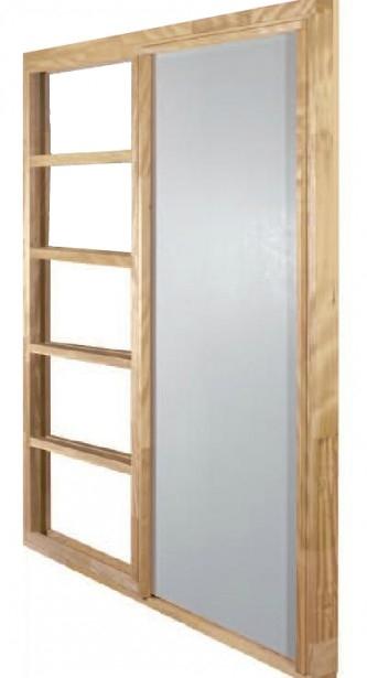 Grenen FSC schuifdeursysteem Easy (enkel) 88 x 211,5 cm