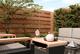 Hardhouten plankenscherm   15-planks   180 x 180 cm V