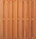 Hardhouten plankenscherm | 180x180cm | 15-planks | 15mm