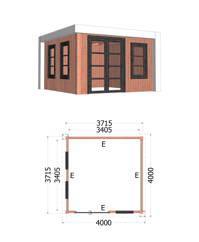 Trendhout | Buitenverblijf Verona | 4000x4000 | Rechts | Combinatie 1