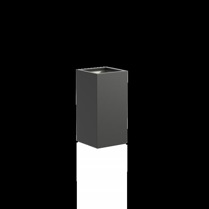 Adezz   Polyester bloembak Buxus   50 x 50 x 100 cm   Antraciet