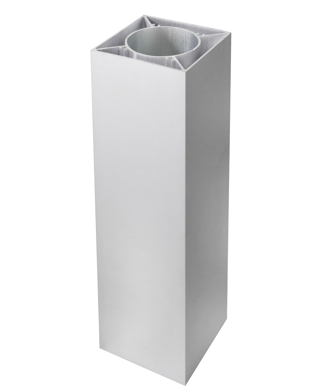 SeriAL/IdeAL | Zilver Aluminium paal | 183 cm