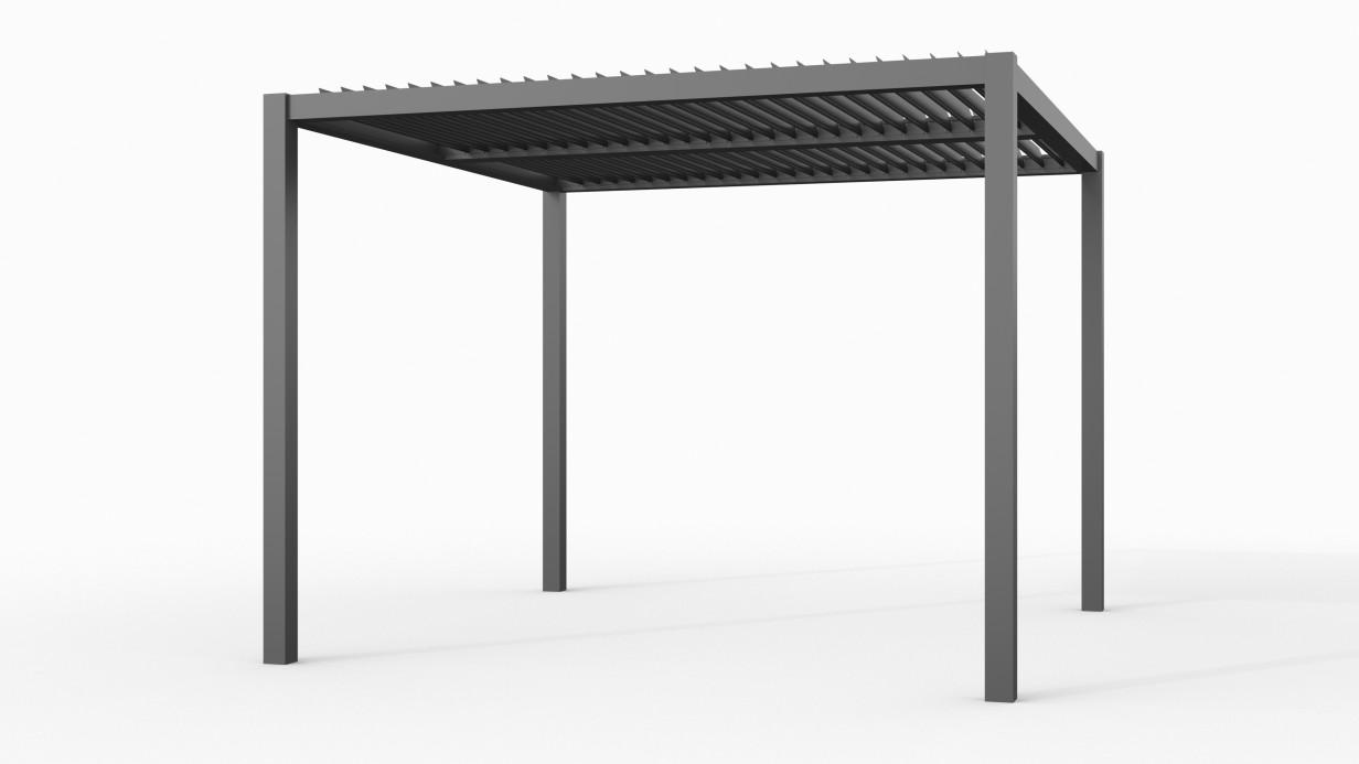 Aluminium overkapping met shutters | 300 x 300 cm | C1