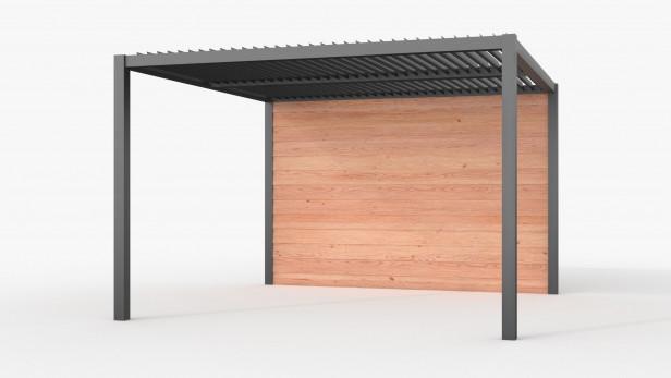 Aluminium overkapping met shutters | 300 x 400 cm | C2Z