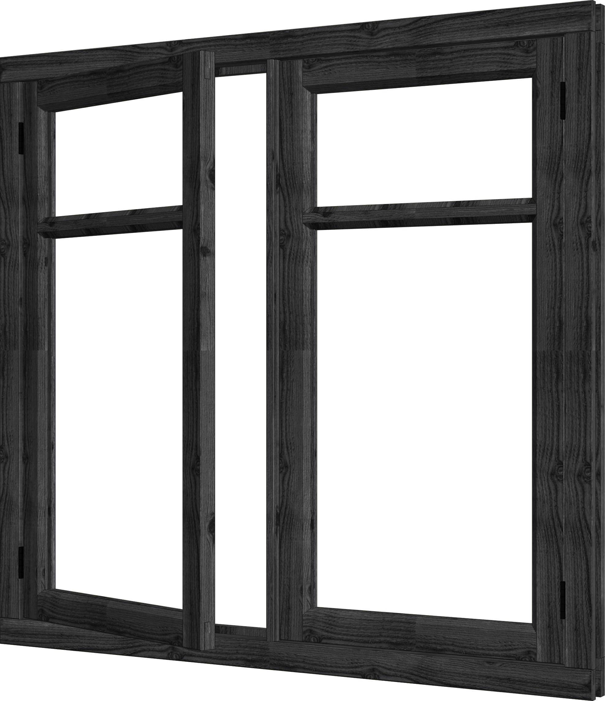 Trendhout | Steel Look Vleugelraam Dubbel | U2 | 151,5 x 143 cm
