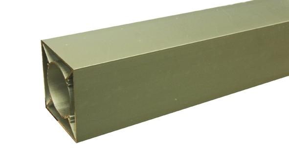 IdeAL   Onbehandeld Aluminium paal