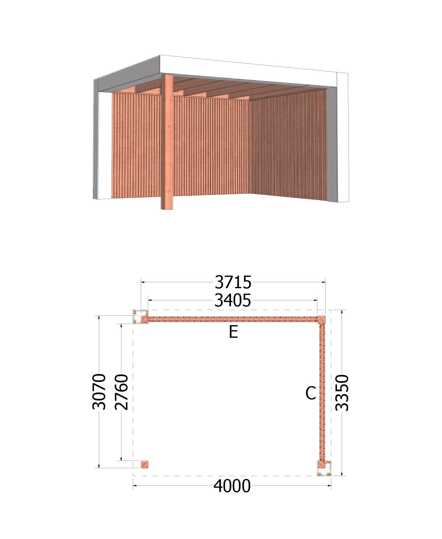 Trendhout | Buitenverblijf Verona | 4000x3350 | Rechts | Combinatie 2