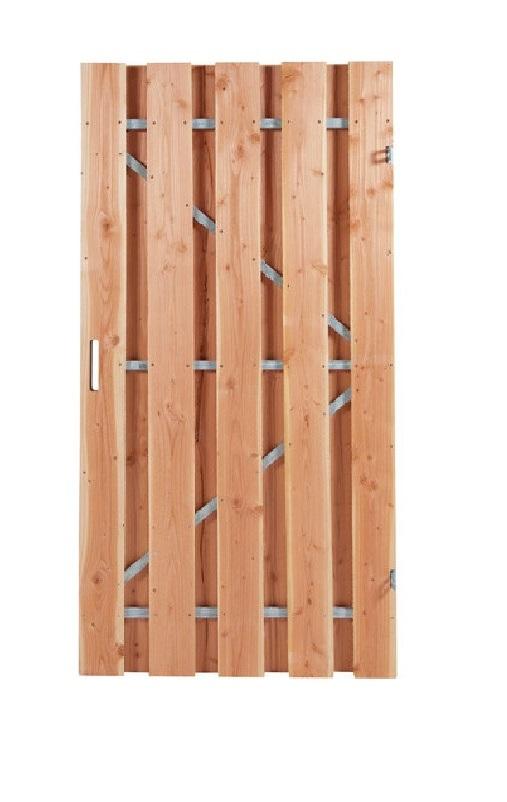Douglas poortdeur   Fijnbezaagd   120 x 190 cm   Stalen frame