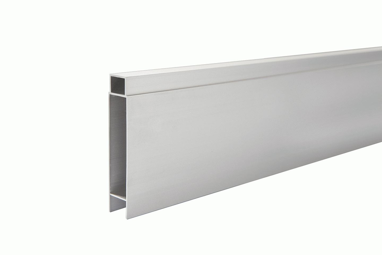 IdeAL   Zilver Tand- en Groefprofiel voor aluminium Scherm   200 cm
