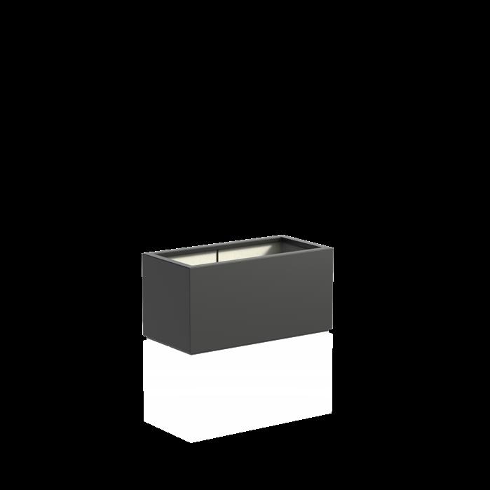 Adezz | Polyester bloembak Buxus | 100 x 50 x 50 | Antraciet