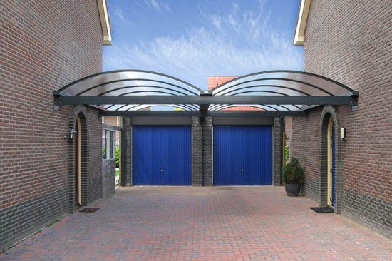 Pext | Carport Aluminium CP25 dubbel | Helder | 5060 x 5000 mm