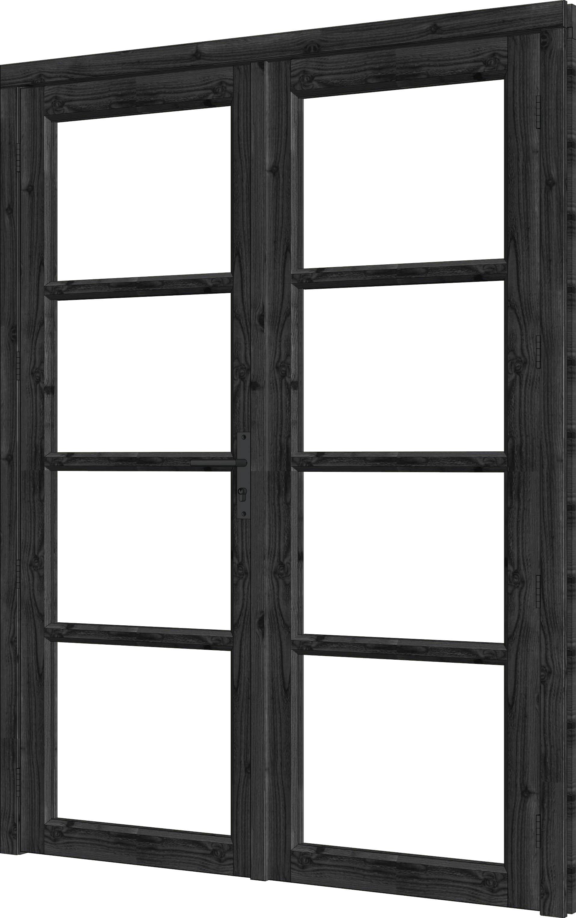 Trendhout | Steel Look Deur Dubbel | U4 | 163,6 x 213,6 cm