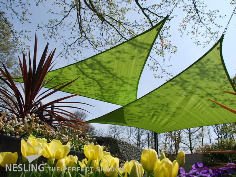 Nesling   Coolfit Schaduwdoek Driehoek   500 Lime groen