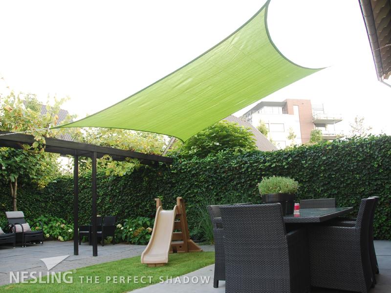 Nesling   Coolfit Schaduwdoek Vierkant   360 Lime groen