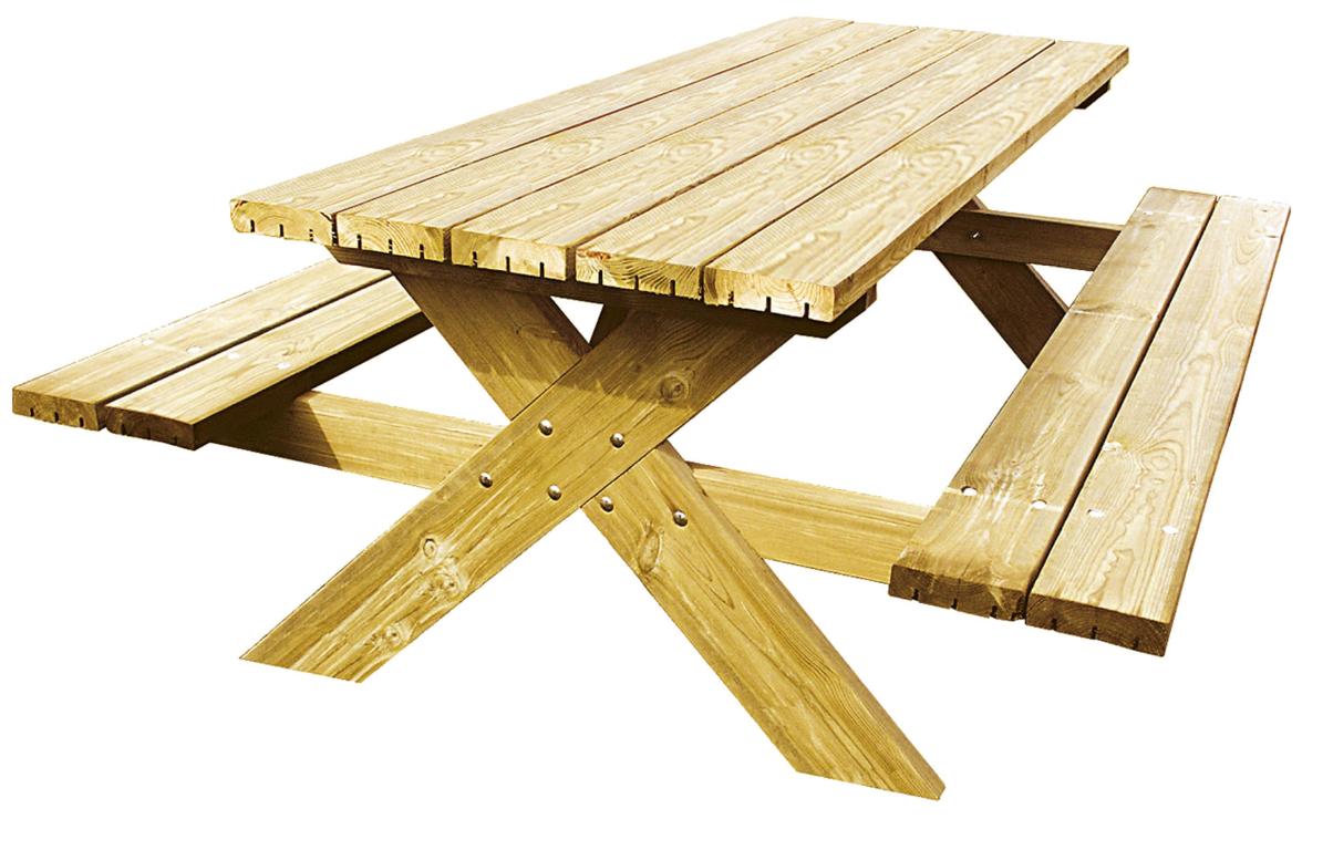 Gardenas | Luxus Robusto picknicktafel | 200 x 150 cm
