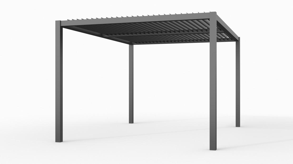 Aluminium overkapping met shutters | 300 x 400 cm | C1
