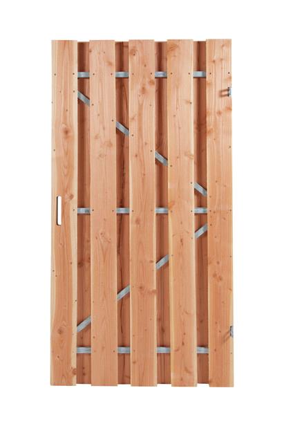 Douglas poortdeur   Fijnbezaagd   100 x 180 cm   Stalen frame