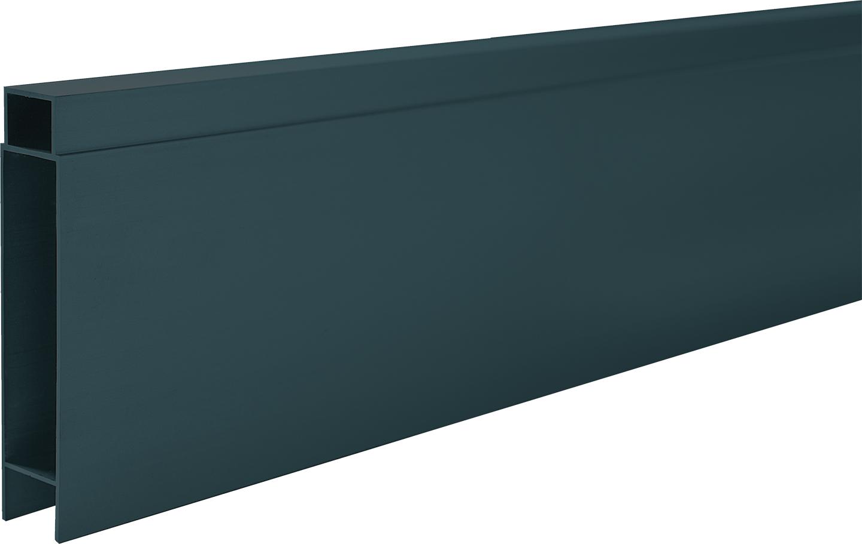 IdeAL   Antraciet Tand- en Groefprofiel voor aluminium Scherm   400 cm