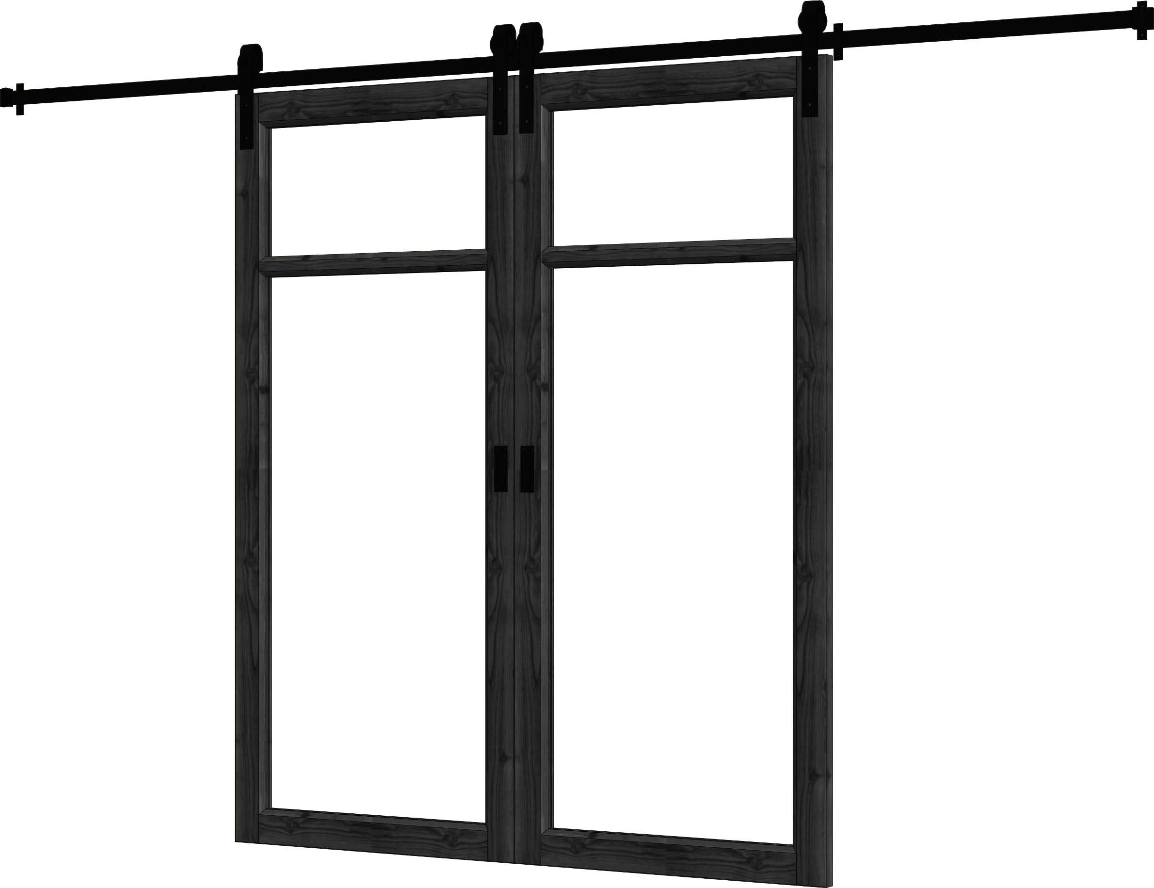 Trendhout | Steel Look Schuifdeur Dubbel | U2 | 168 x 206 cm