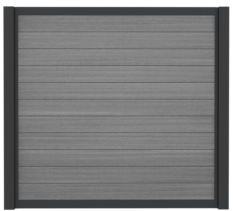 SeriAL | WPC Rabatplank voor Aluminium Scherm | Multigrey Dark