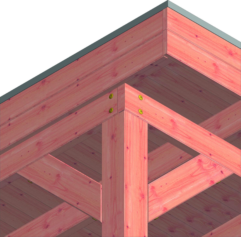 Trendhout | Buitenverblijf Mensa | 4400x4000 mm | Combinatie 2
