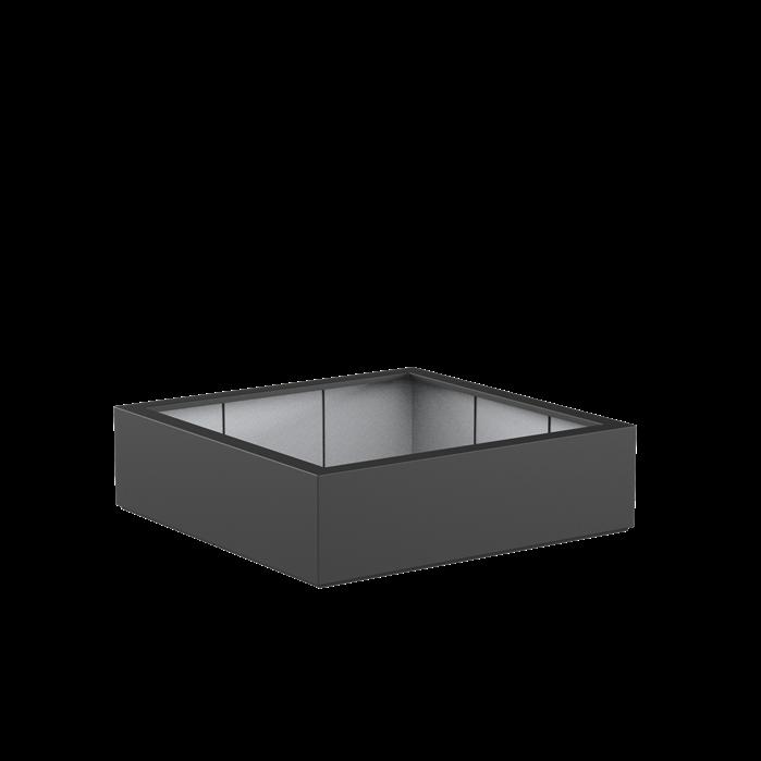 Adezz   Polyester bloembak Buxus   140 x 140 x 40 cm   Antraciet
