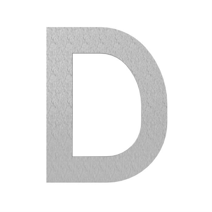 Adezz | Brievenbusletter D | RVS