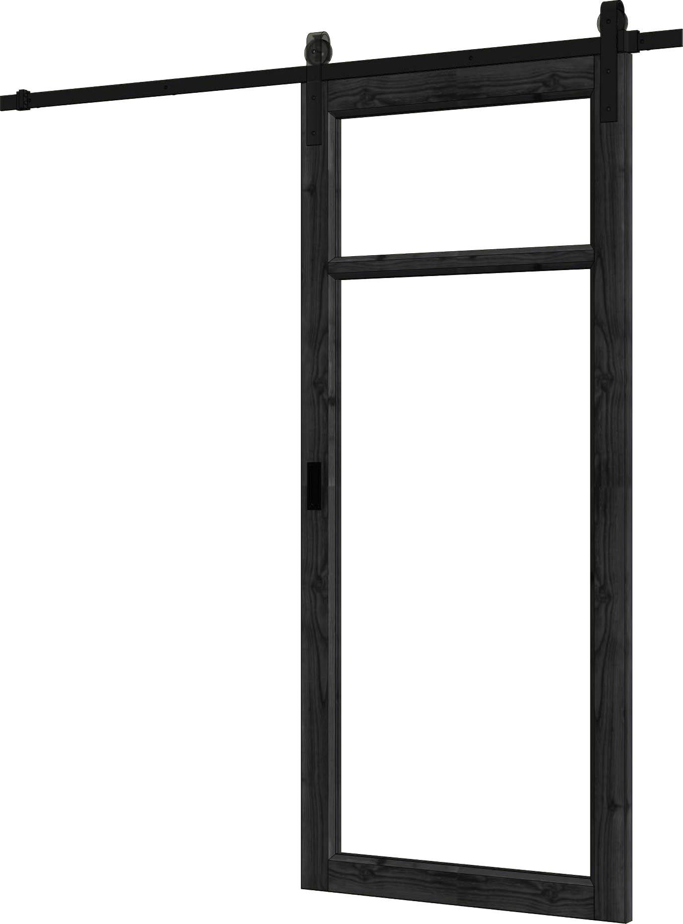 Trendhout | Steel Look Schuifdeur Enkel | U2 | 89 x 206 cm