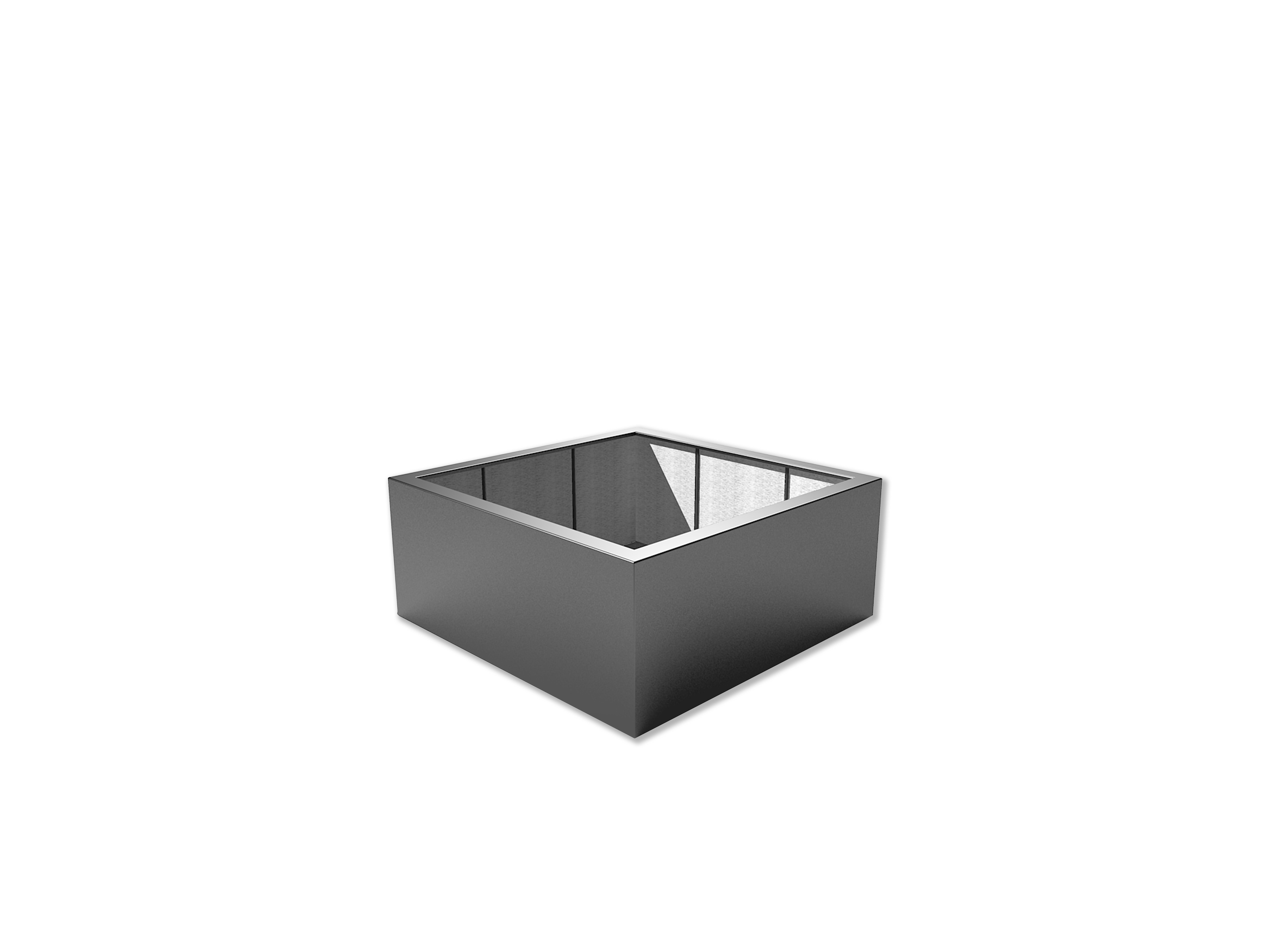 Adezz | Polyester bloembak Buxus | 140 x 140 x 60 cm | Antraciet