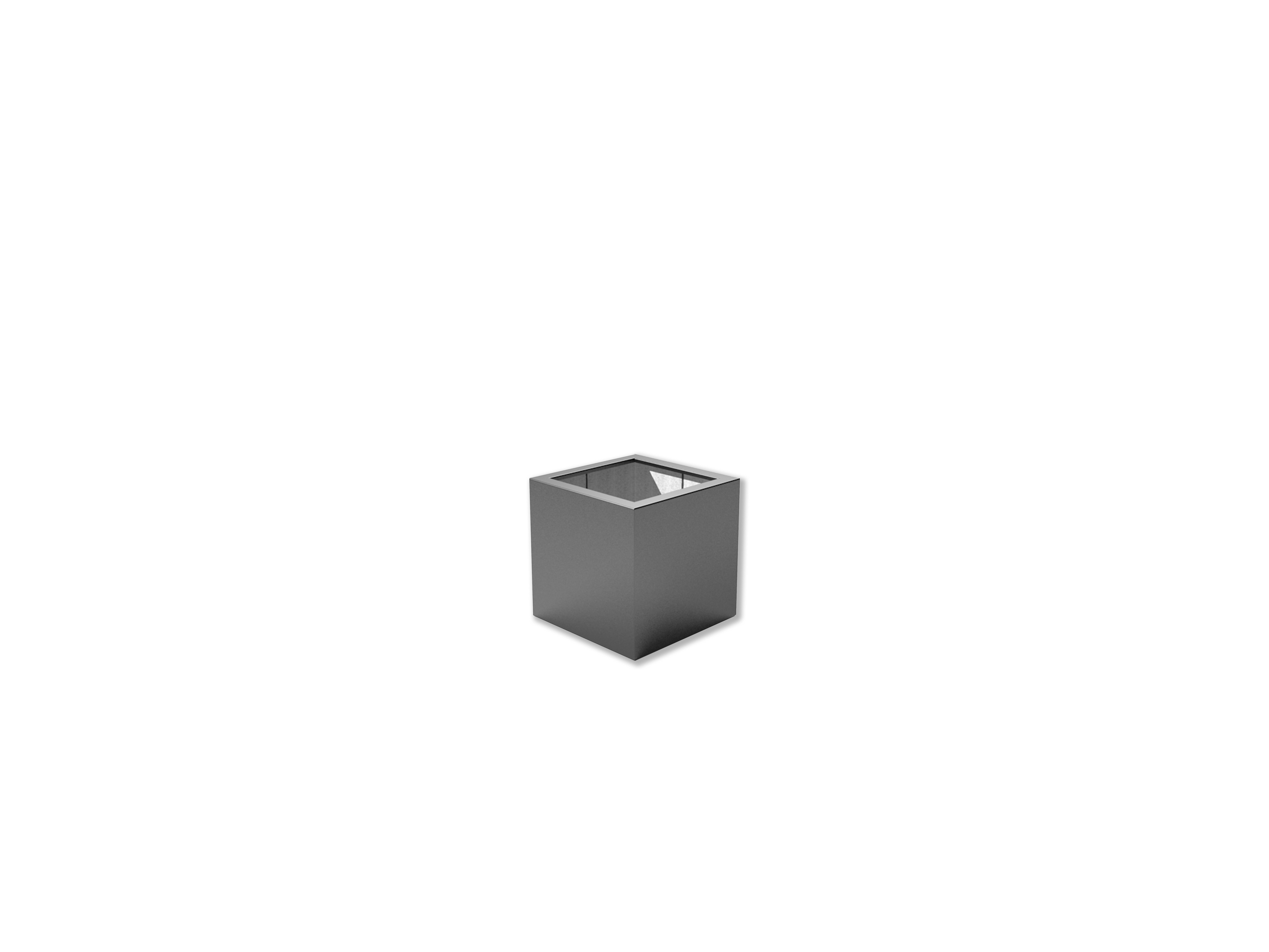 Adezz | Polyester bloembak Buxus | 60 x 60 x 60 cm | Antraciet