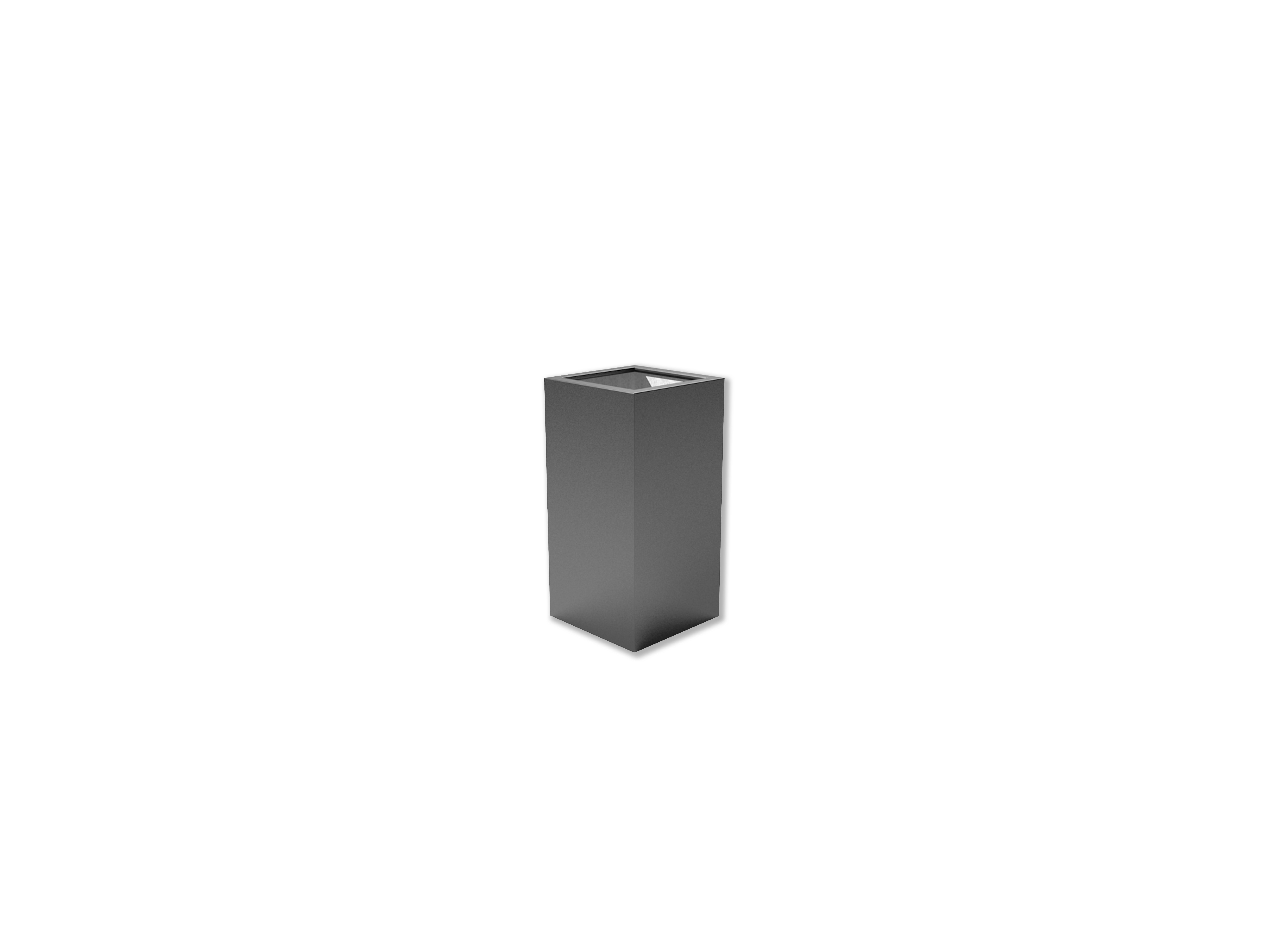 Adezz | Polyester bloembak Buxus | 50 x 50 x 100 | Antraciet