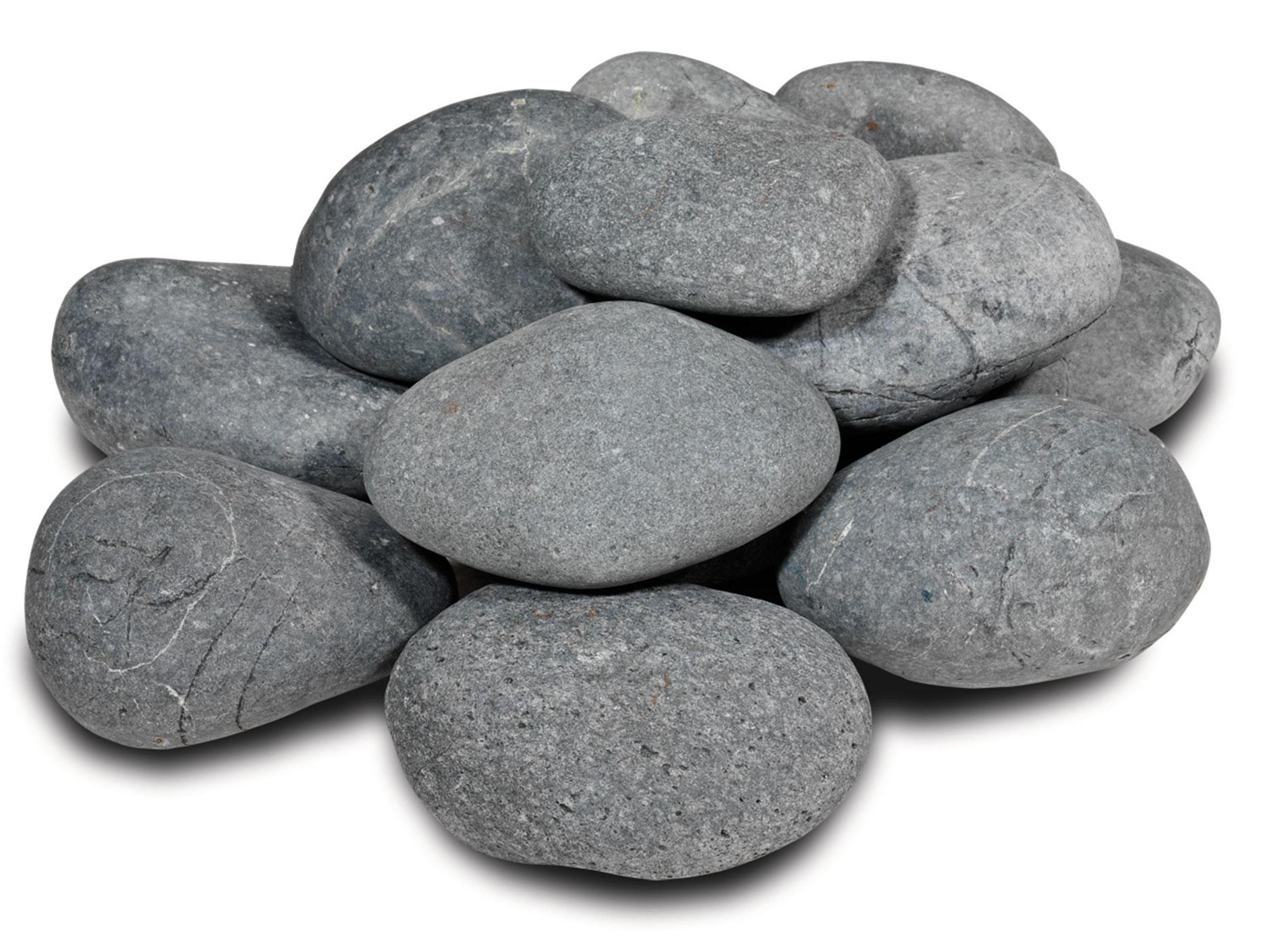 MO-B   Beach pebbles zwart 3-6 cm   20 kg