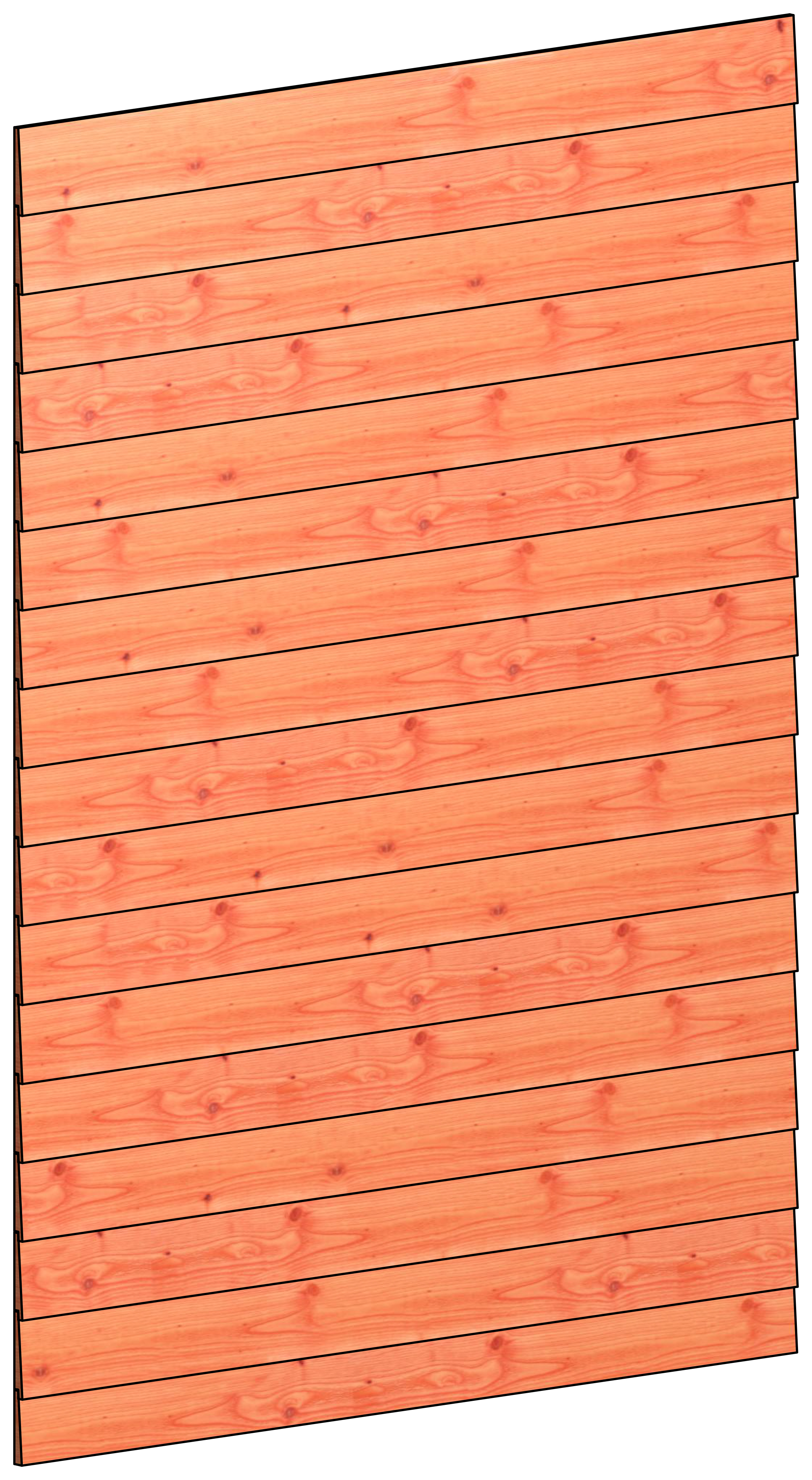 Trendhout | Wandmodule B potdekselplanken | 163x220 cm
