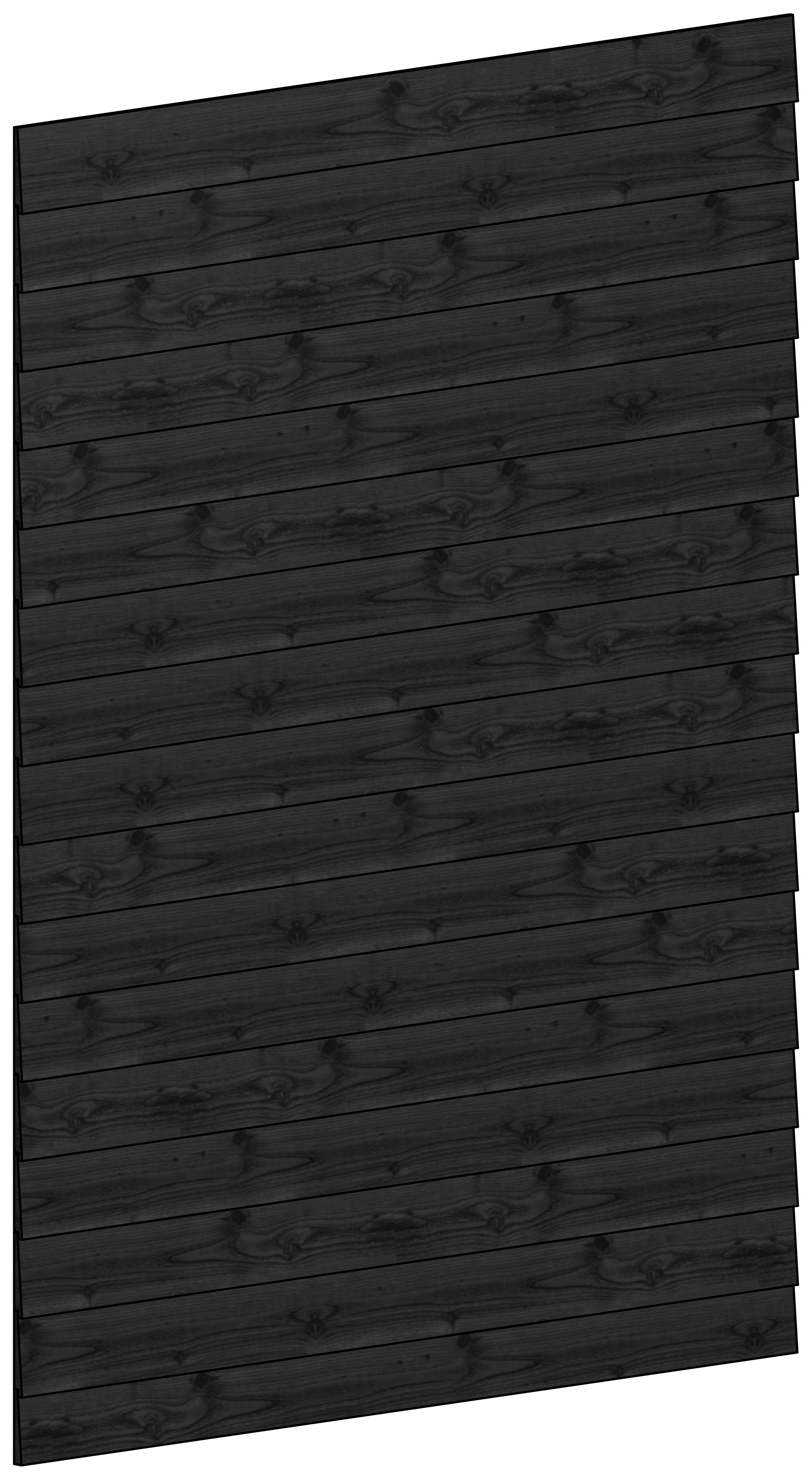 Trendhout | Wandmodule B potdekselplanken zwart | 163x220 cm