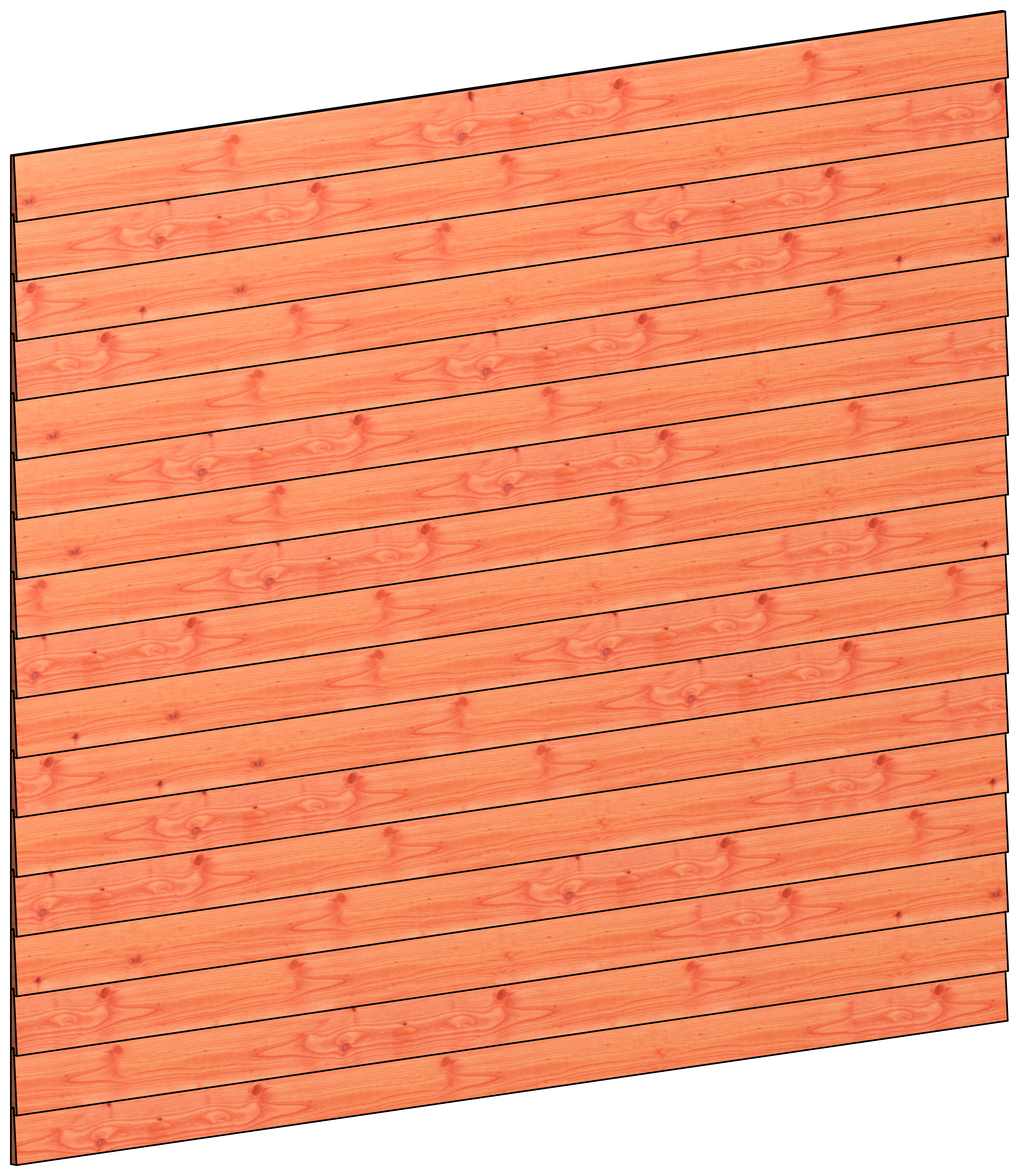 Trendhout | Wandmodule C potdekselplanken | 276x220 cm