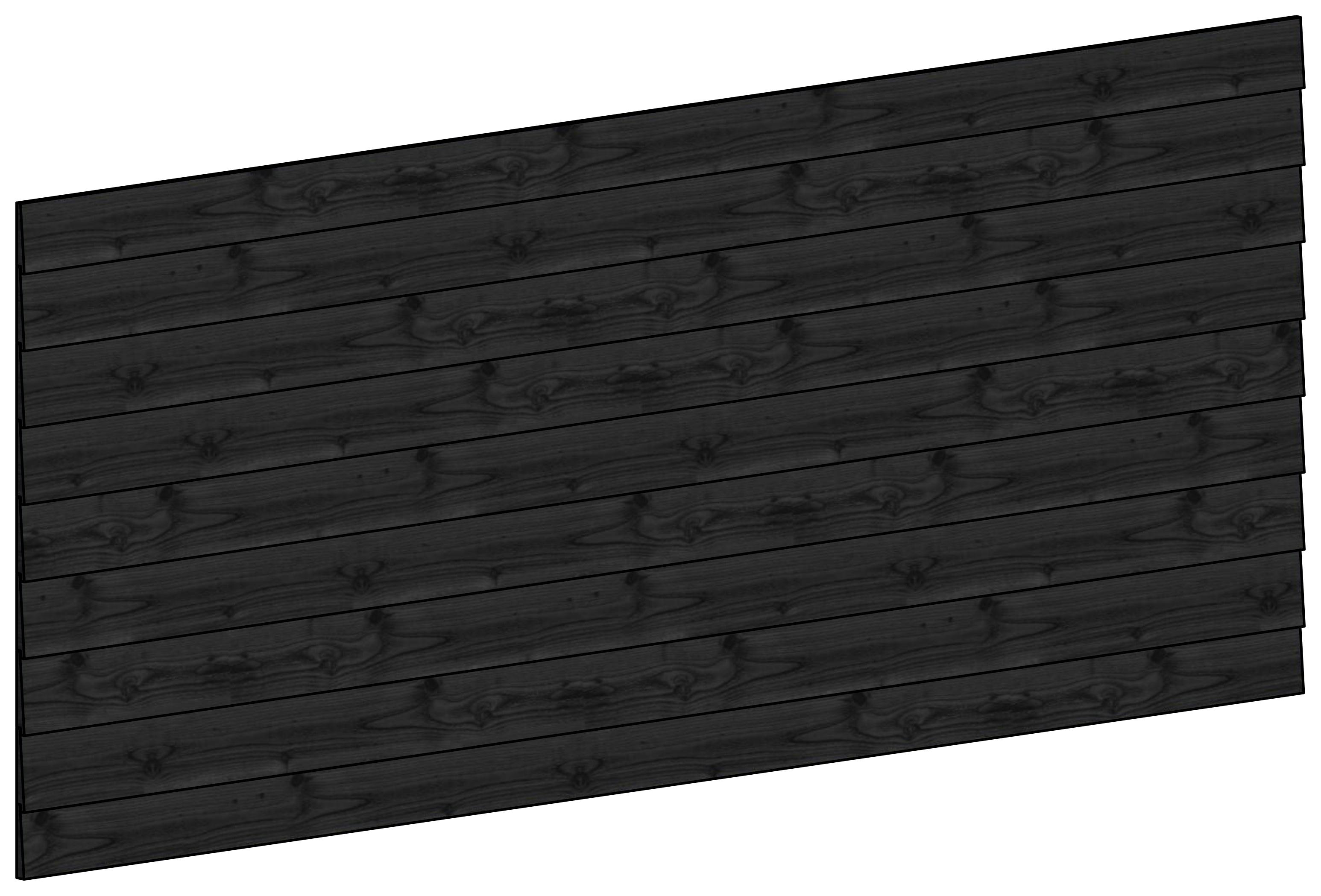 Trendhout | Wandmodule F potdekselplanken zwart | 276x117 cm