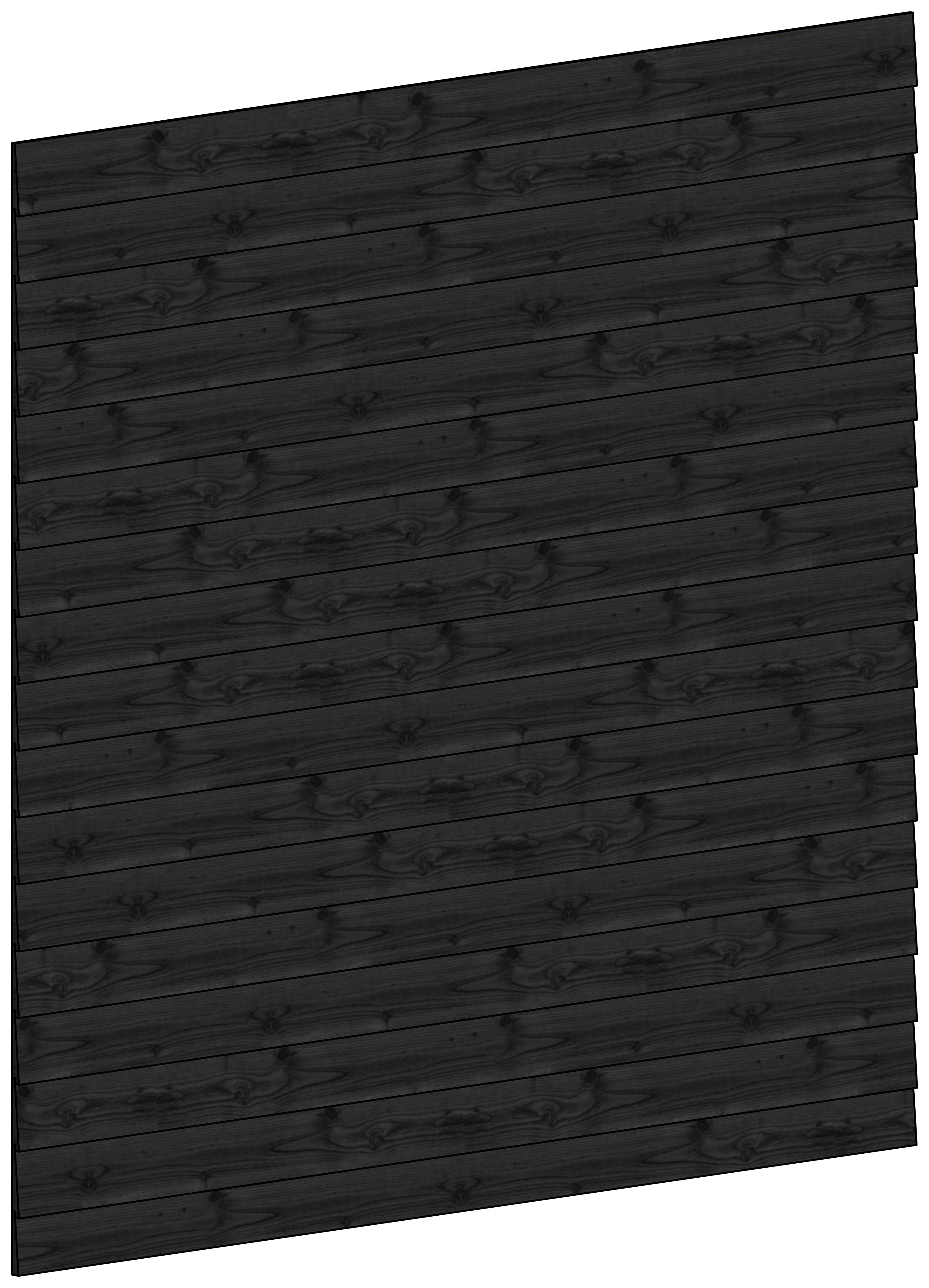 Trendhout | Wandmodule H potdekselplanken zwart | 223x220 cm
