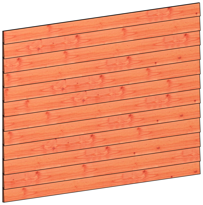 Trendhout | Wandmodule K potdekselplanken | 223x156 cm