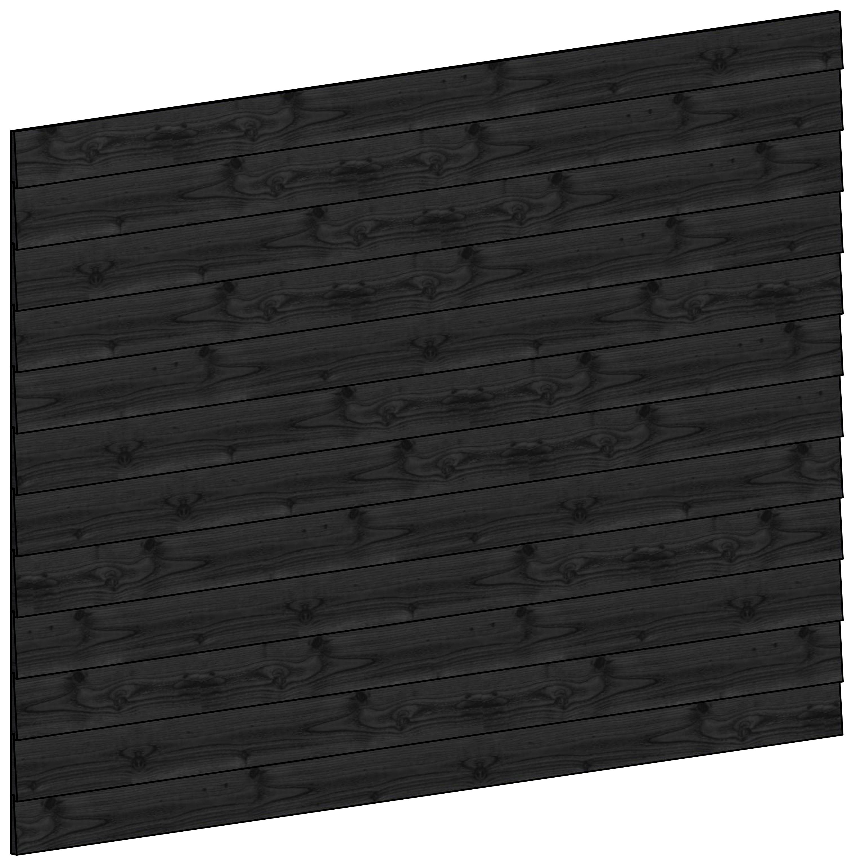 Trendhout | Wandmodule K potdekselplanken zwart | 223x156 cm