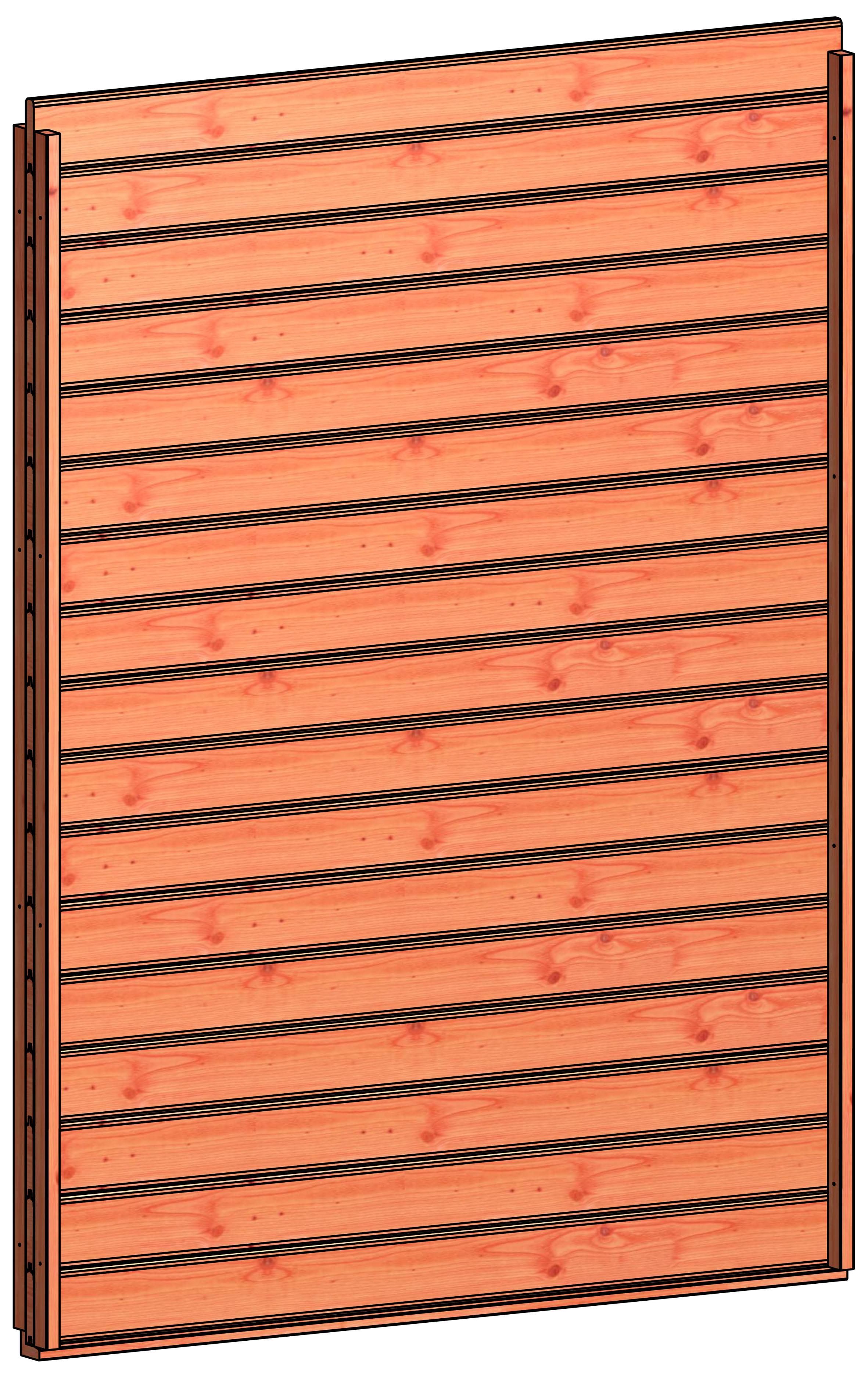 Trendhout | Wandmodule B blokhut profielplanken | 163x220 cm