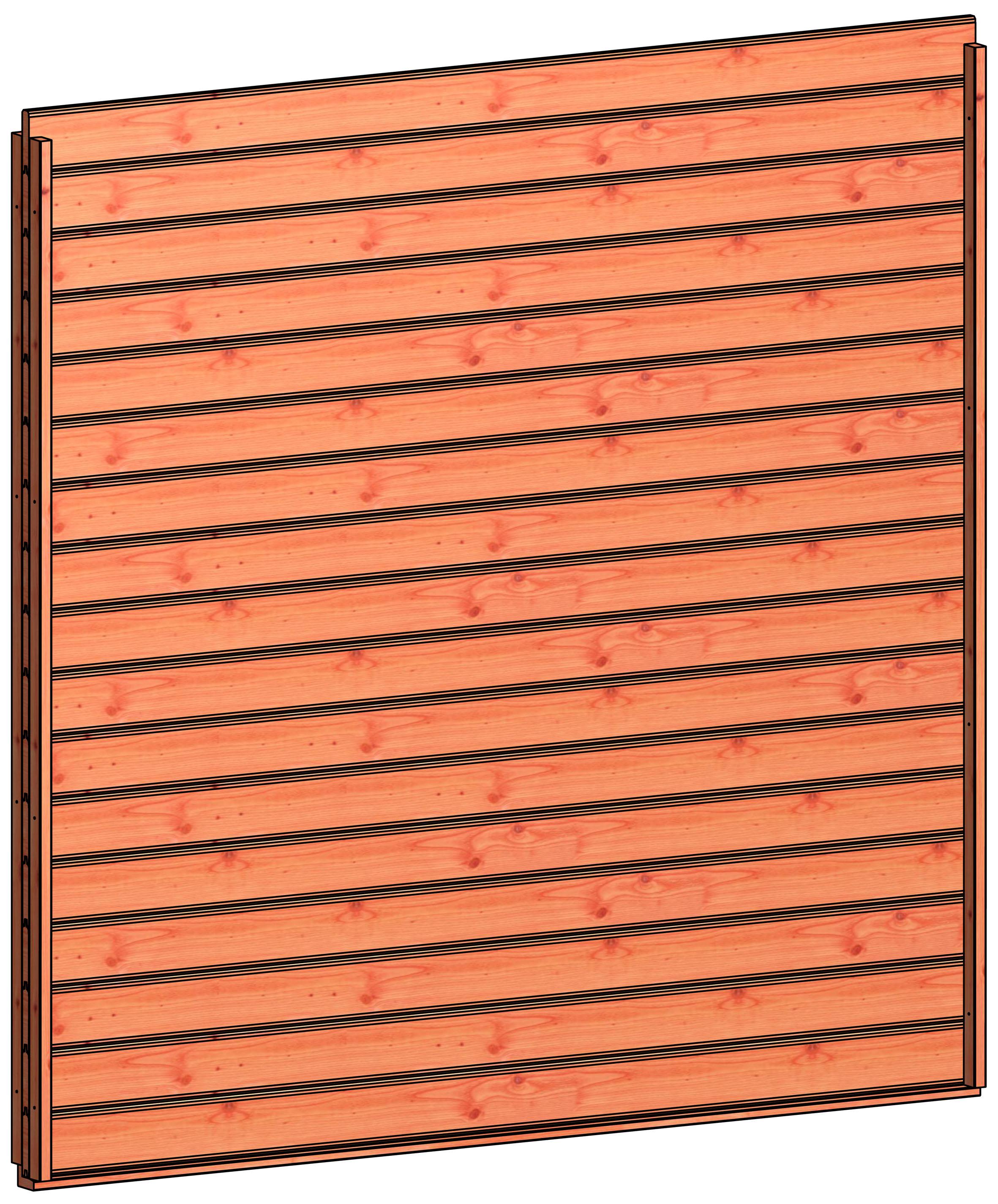Trendhout | Wandmodule H blokhut profielplanken l | 223x220 cm