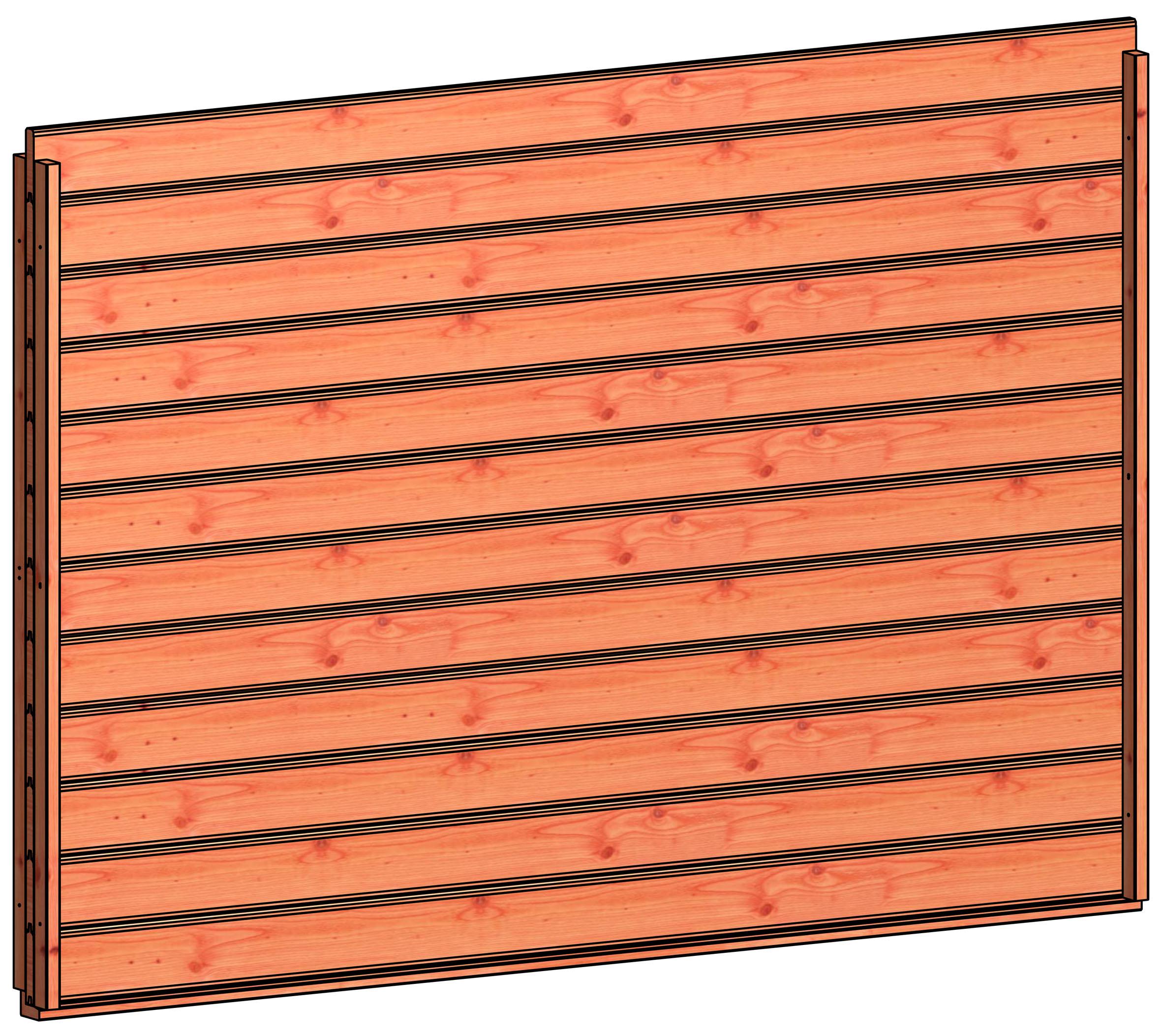 Trendhout | Wandmodule K blokhut profielplanken | 223x152 cm