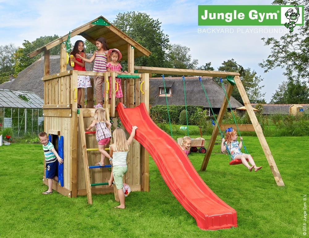 Jungle Gym | Chalet Playhouse 2 Swing Xtra | Paars