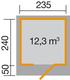 Blokhut | 172 Gr.1 | 235 x 240 | Zweeds rood | WEKA