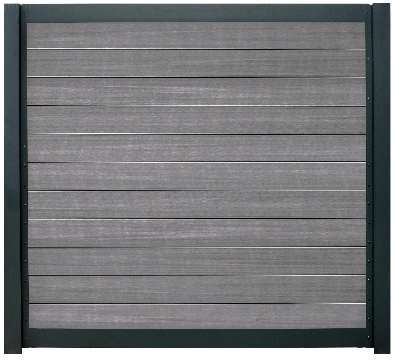 SeriAL | Aluminium scherm Antraciet- Multigrey Dark | 180x180