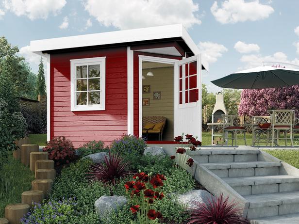 WEKA | Designhuis 213 Gr.2 | 300x300 cm | Zweeds rood